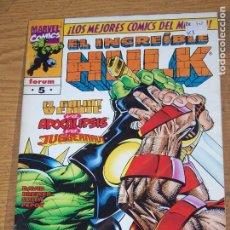 Cómics: FORUM EL INCREIBLE HULK VOL V.3 Nº 5. Lote 179545910