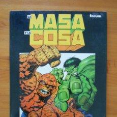Cómics: LA MASA Y LA COSA - JIM STARLIN, BERNI WRIGHTSON - FORUM (HK). Lote 180100146
