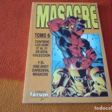 Cómics: MASACRE VOL. 3 NºS 27 AL 31 + DAREDEVIL ONE SHOT RETAPADO ( JOE KELLY ) ¡BUEN ESTADO! FORUM MARVEL. Lote 180108098