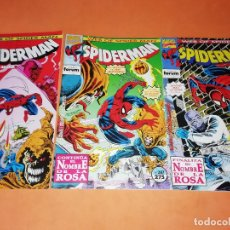 Cómics: SPIDERMAN. FORUM . Nº 286,287 Y 288. SAGA COMPLETA. EL NOMBRE DE LA ROSA. BUEN ESTADO.. Lote 180326230