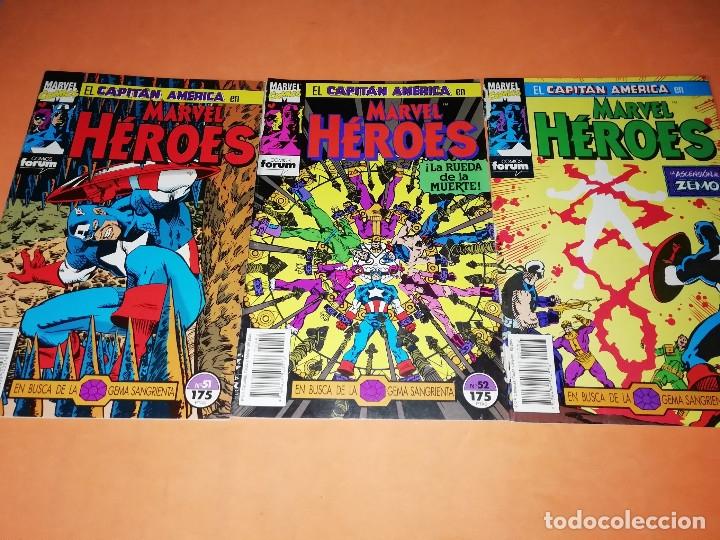CAPITAN AMERICA. MARVEL HEROES FORUM. EN BUSCA DE LA GEMA SANGRIENTA. TRES NUMEROS. (Tebeos y Comics - Forum - Capitán América)