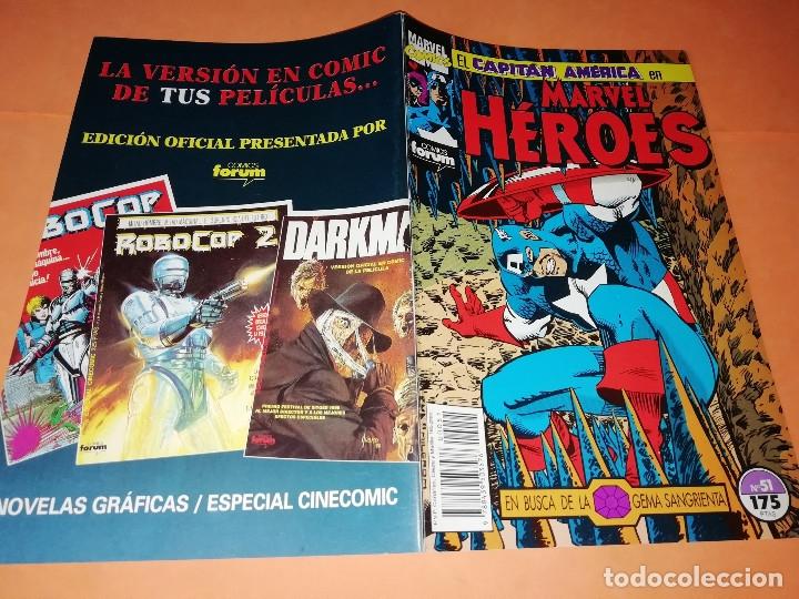 Cómics: CAPITAN AMERICA. MARVEL HEROES FORUM. EN BUSCA DE LA GEMA SANGRIENTA. TRES NUMEROS. - Foto 2 - 180474891