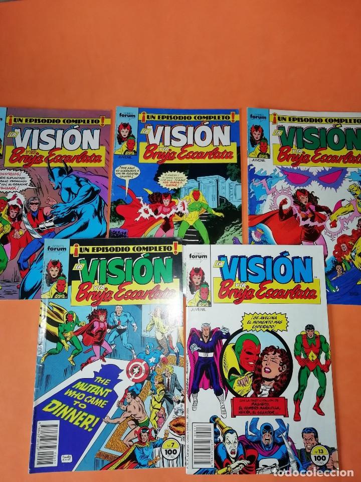LA VISION Y LA BRUJA ESCARLATA. FORUM NUMEROS 3,5,6,7 Y 13. BUEN ESTADO. (Tebeos y Comics - Forum - Vengadores)