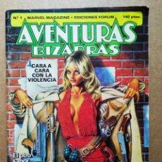 Cómics: AVENTURAS BIZARRAS MARVEL MAGAZINE N°1 (FORUM, 1983). CON PÓSTER DE STAN LEE.. Lote 180938948