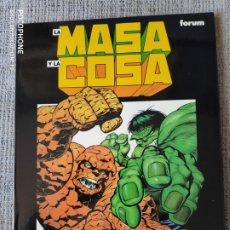 Cómics: LA MASA Y LA COSA NOVELAS GRAFICAS MARVEL COMICS FORUM. Lote 181090538