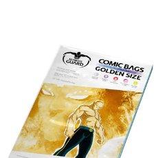 Cómics: BOLSAS COMICS GOLDEN ULTIMATE GUARD CON AUTOCIERRE.TAMAÑO TOMO 19,70 X 26,8 CM PAQUETE DE 100 BOLSAS. Lote 181202686