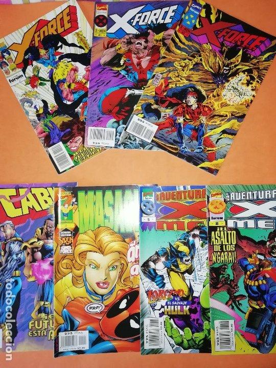 LOTE. X FORCE Nº 24,41 Y 42. LAS AVENTURAS DE LOS X-MEN Nº 5 Y 8.CABLE Nº 21 Y MASACRE Nº 3. (Tebeos y Comics - Forum - X-Men)