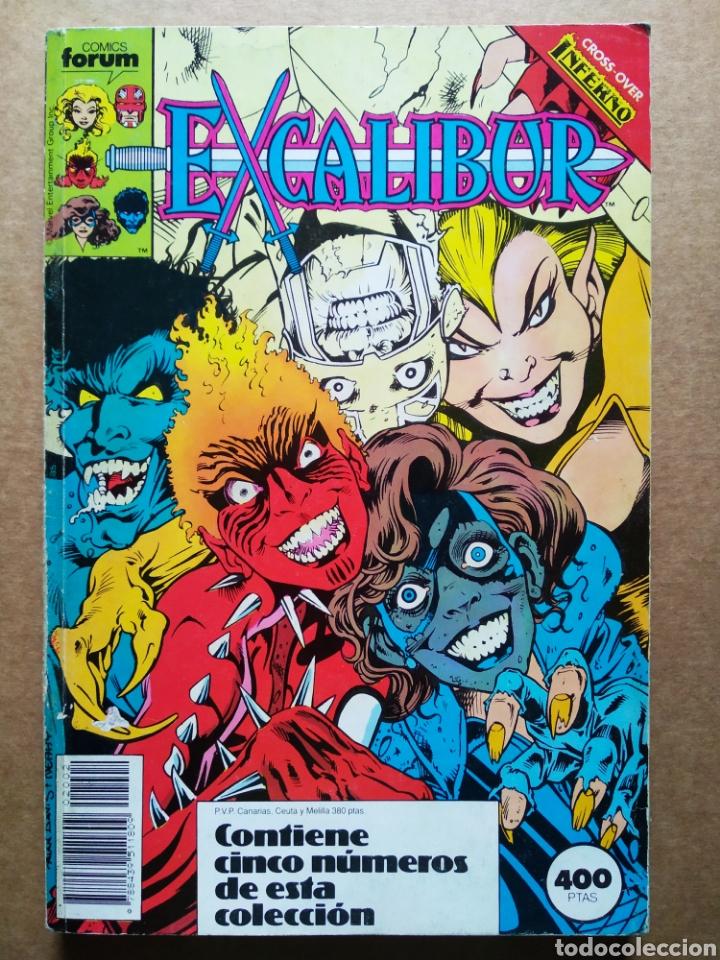 RETAPADO EXCALIBUR: NÚMEROS 6-7-8-9-10 (CÓMICS FORUM, 1989-1990). CON EL CROSSOVER INFERNO. (Tebeos y Comics - Forum - Retapados)