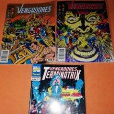 Cómics: LOS VENGADORES 75 Y 76 . Y LOS VENGADORES TERMINATRIX NUMERO 1 DE 4 . VER FOTOS. Lote 182214540
