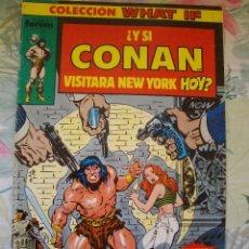 Cómics: WHAT IF Nº 1 Y SI CONAN VISITARA NEW YORK HOY FORUM . Lote 182299370