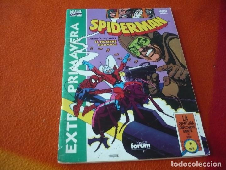 SPIDERMAN EXTRA PRIMAVERA 1991 CON POSTER FORUM MARVEL LA AVENTURA COMPLETAMENTE DIMINUTA (Tebeos y Comics - Forum - Spiderman)