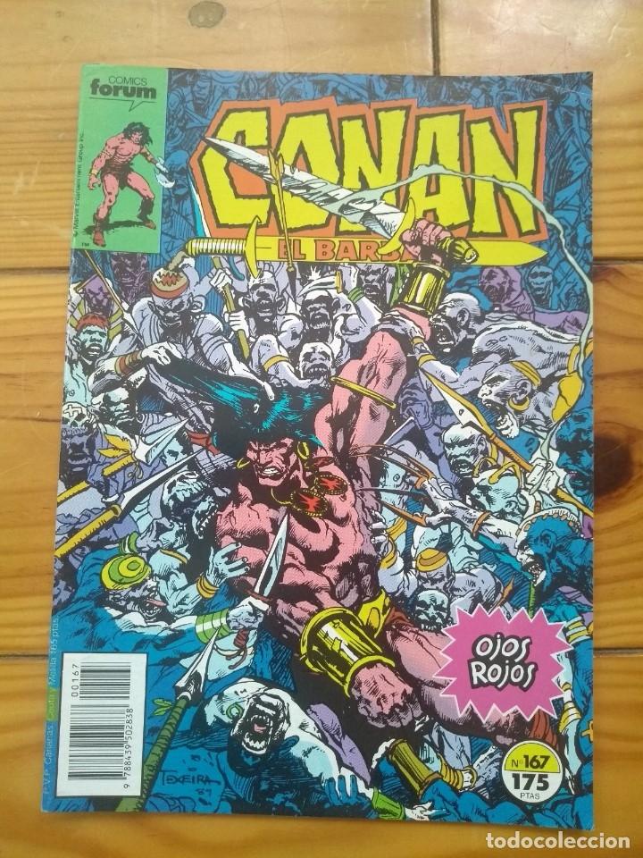 CONAN EL BÁRBARO Nº 167 - EXCELENTE ESTADO D5 (Tebeos y Comics - Forum - Conan)