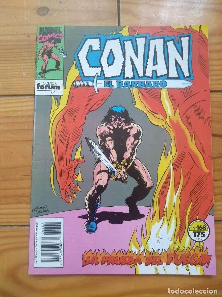 CONAN EL BÁRBARO Nº 168 - EXCELENTE ESTADO D1 (Tebeos y Comics - Forum - Conan)