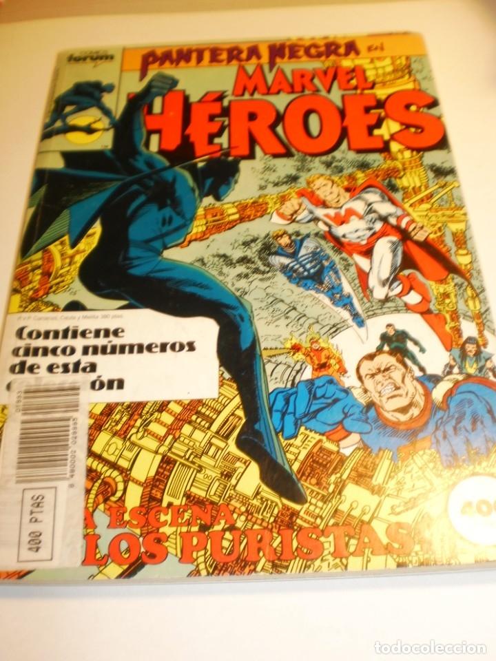 PANTERA NEGRA - MARVEL HÉROES - RETAPADO NºS 41 EXTRA - 42 - 43 - 44 - FORUM (Tebeos y Comics - Forum - Retapados)