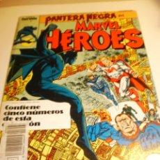 Cómics: PANTERA NEGRA - MARVEL HÉROES - RETAPADO NºS 41 EXTRA - 42 - 43 - 44 - FORUM. Lote 182546710