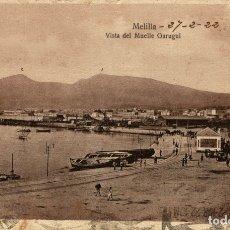Cómics: MELILLA VISTA DEL MUELLE GARUGUI. Lote 182712508