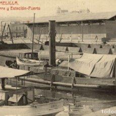 Cómics: MELILLA. MUELLE BECERRA Y ESTACION. Lote 182712642