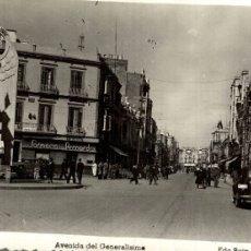 Cómics: CLICHE UNIQUE FOTOPOSTAL MELILLA AVENIDA DEL GENERALISMO. Lote 182713363