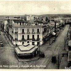 Cómics: FOTOPOSTAL MELILLA CALLE DE PABLO IGLESIA Y AVENIDA DE LA REPUBLICA. Lote 182713606