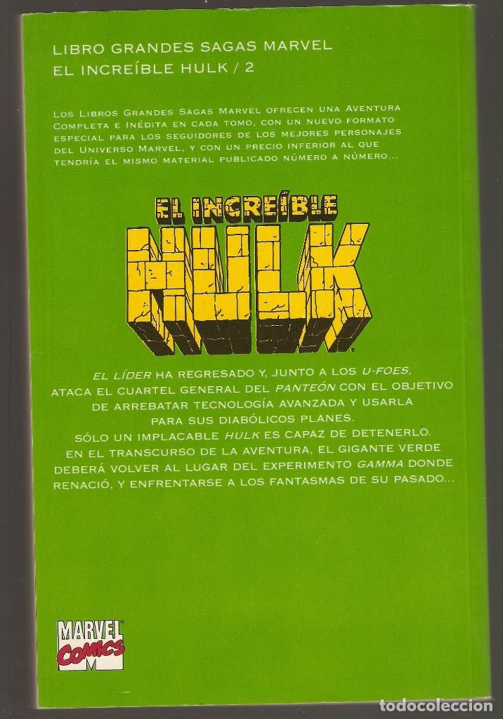 Cómics: GRANDES SAGAS MARVEL - nº 12 - EL INCREÍBLE HULK - FANTASMAS DEL PASADO - 296 Páginas - 1995 - - Foto 2 - 182907485