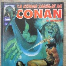 Cómics: LA ESPADA SALVAJE DE CONAN - SERIE ORO - Nº 3 - TOMO TAPA DURA - FORUM / PLANETA . Lote 182965523