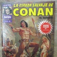Cómics: LA ESPADA SALVAJE DE CONAN - SERIE ORO - Nº 1 - TOMO TAPA DURA - FORUM / PLANETA . Lote 182965547