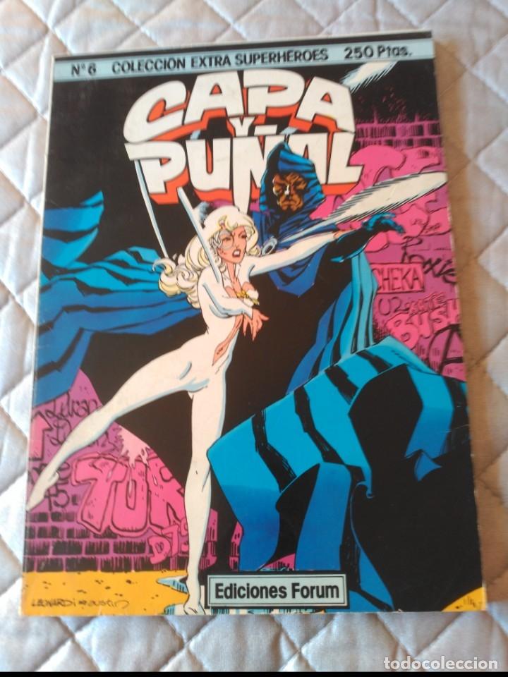 EXTRA SUPERHÉROES Nº 6 CAPA Y PUÑAL MUY DIFÍCIL FORUM (Tebeos y Comics - Forum - Prestiges y Tomos)