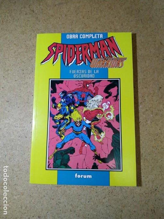 RETAPADO FÓRUM SPIDERMAN NEW WARRIORS - FUERZAS DE LA OSCURIDAD, OBRA COMPLETA, EXCELENTE ESTADO (Tebeos y Comics - Forum - Spiderman)