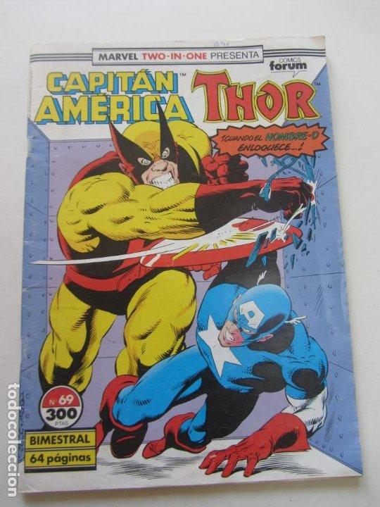 CAPITÁN AMÉRICA & THOR. VOL 1. Nº 69. FORUM BUEN ESTADO CX29 (Tebeos y Comics - Forum - Capitán América)