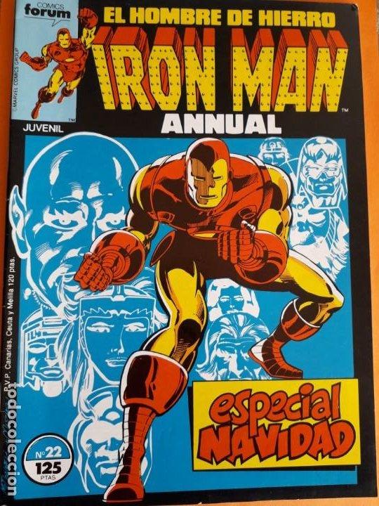 EL HOMBRE DE HIERRO N-22 ANNUAL AÑO 1986 MUY BUEN ESTADO (Tebeos y Comics - Forum - Iron Man)