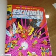 Cómics: ESCUADRON SUPREMO 10 Nº DEL 1 AL 10 ENCUADERNADOS EN UN TOMO LLEVAN PORTADAS - FORUM. Lote 184045210