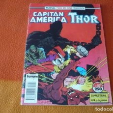 Cómics: CAPITAN AMERICA THOR VOL. 1 57 ( GRUENWALD SIMONSON ) ¡BUEN ESTADO! FORUM MARVEL TWO IN ONE. Lote 184344532