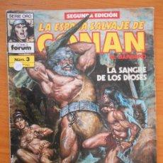 Fumetti: LA ESPADA SALVAJE DE CONAN EL BARBARO - Nº 3 - SEGUNDA EDICION - SERIO ORO - FORUM (GZ). Lote 184533737