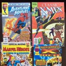 Cómics: LOTE 4 COMICS X MEN 6 11 FORUM - AVENTURAS MARVEL SPIDERMAN 6 - MARVEL HÉROES ESPECIAL INVIERNO. Lote 184765068