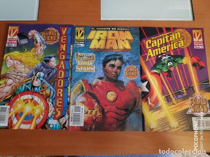 LOTE SAGA PRIMER SIGNO VENGADORES IRON MAN CAPITAN AMERICA (Tebeos y Comics - Forum - Vengadores)