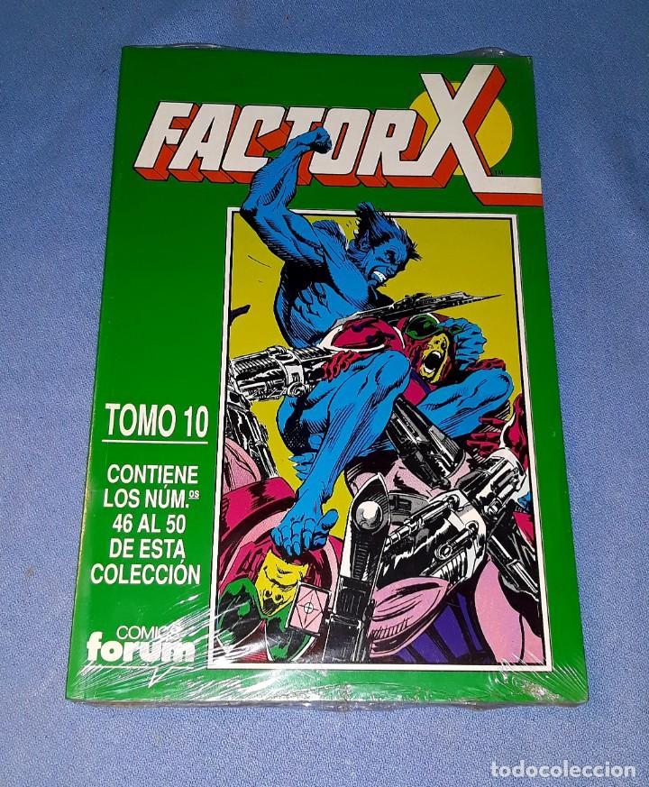 FACTOR X TOMO 10 (46 AL 50) FORUM MUY BUEN ESTADO A ESTRENAR CON PRECINTO (Tebeos y Comics - Forum - Factor X)