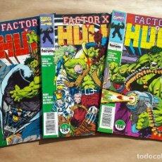 Cómics: FACTOR X Y HULK 1 A 3 COMPLETA - FORUM - JMV. Lote 185905288