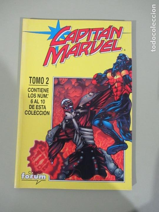 CAPITÁN MARVEL RETAPADO Nº 2 CON LOS Nº 6 AL 10 FORUM MUY BUEN ESTADO (Tebeos y Comics - Forum - Retapados)