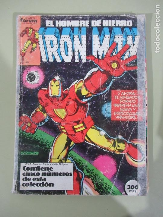 IRON MAN VOL. 1 Nº 1 AL 5 RETAPADO FORUM (Tebeos y Comics - Forum - Retapados)