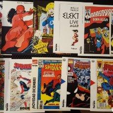 Cómics: LOTE POSTALES - COMICS FORUM - SPIDERMAN, ELEKTRA, DAREDEVIL, BRUJA ESCARLATA, MUJER INVISIBLE. Lote 186402608