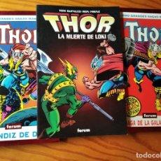 Comics: THOR COLECCION DE TOMOS DEL 408 AL 432- ETAPA DEFALCO/ FRENZ- GRANDES SAGAS MARVEL LA MUERTE LOKI. Lote 187289761