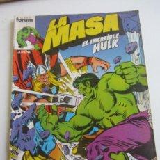 Comics: LA MASA - EL INCREIBLE HULK - VOL 1 - Nº 5 FORUM MUCHOS MAS A LA VENTA MIRA TUS FALTAS CX35. Lote 189135527