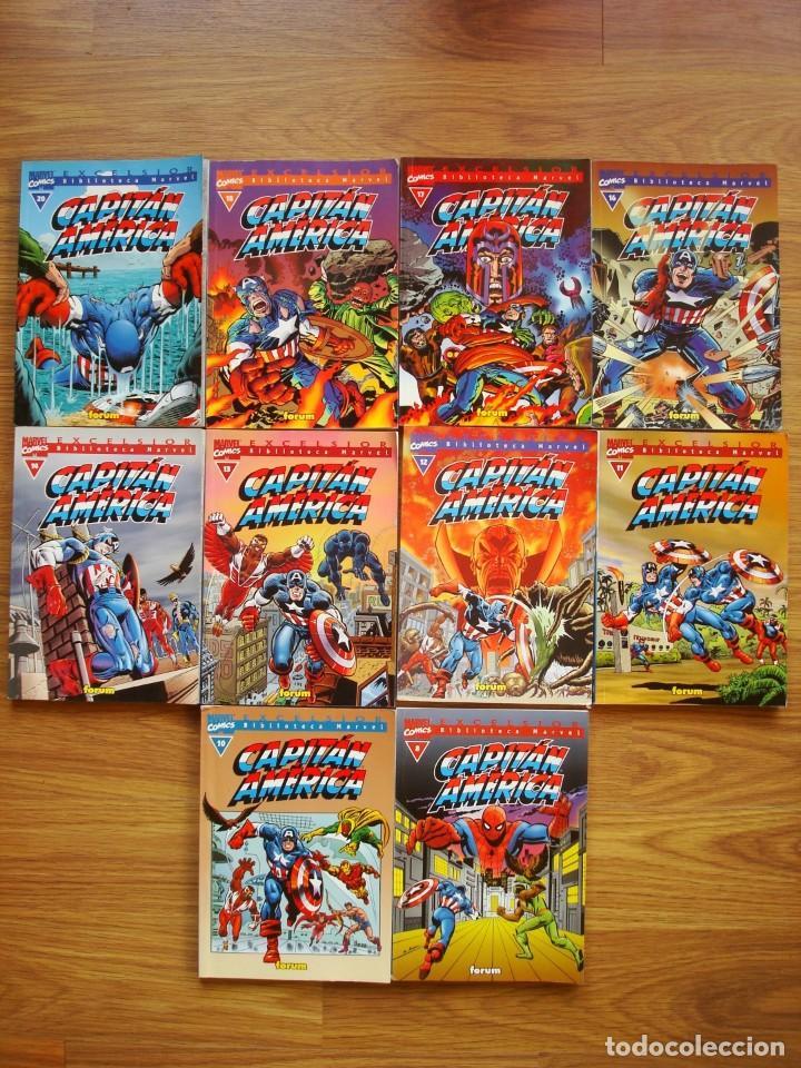 CAPITÁN AMÉRICA Nº 8 AL 20 LOTE BIBLIOTECA MARVEL 10 NºS (BM) FORUM (Tebeos y Comics - Forum - Capitán América)