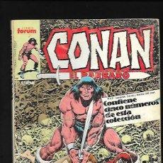 Cómics: RETAPADO DE CONAN EL BARBARO CONTIENE LOS NUMEROS 111, 112, 113, 114 Y 115. Lote 189984941