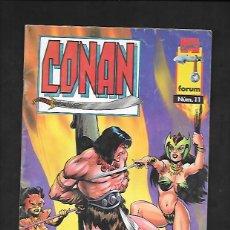 Cómics: CONAN NUMERO 11 AMAZONAS EL ULTIMO NUMERO. Lote 189986887