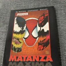 Cómics: SPIDERMAN - VENENO: MATANZA MAXIMA - TOM DE FALCO - J. M. DE MATTEIS - TERRY KAVANAGH - DAVID MICHEL. Lote 190292445