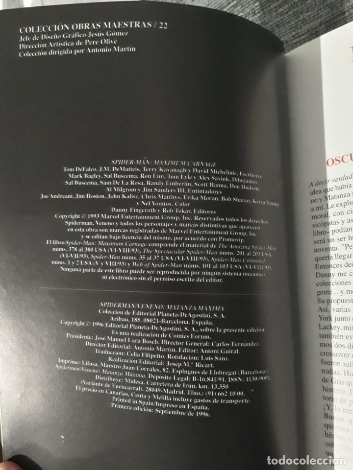 Cómics: SPIDERMAN - VENENO: MATANZA MAXIMA - Tom De Falco - J. M. De Matteis - Terry Kavanagh - David Michel - Foto 3 - 190292445
