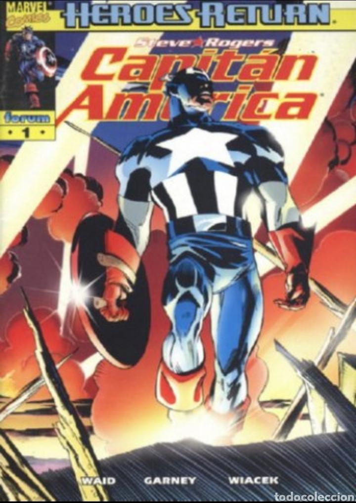 CAPITÁN AMÉRICA VOL. 4 COLECCION COMPLETA 27 NUMEROS POR WAID, GARNEY Y ANDY KUBERT 27 NÚMEROS (Tebeos y Comics - Forum - Capitán América)