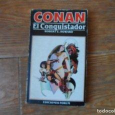 Cómics: CONAN Nº 9 CONAN EL CONQUISTADOR - ROBERT E. HOWARD NOVELA EDICIONES FORUM. Lote 221590272