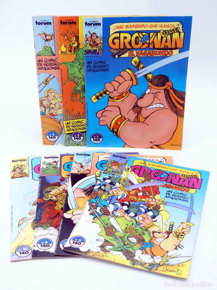 GROONAN EL VAGABUNDO 1 2 3 4 5 6 10. LOTE DE 7 (SERGIO ARAGONÉS) FORUM, 1987. OFRT (Tebeos y Comics - Forum - Otros Forum)